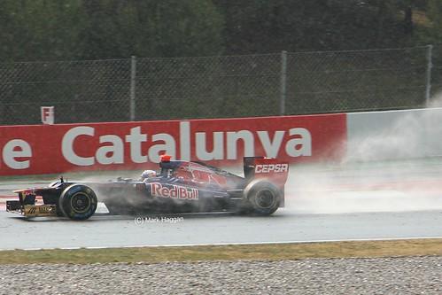 Daniel Ricciardo in his Torro Rosso at Formula One Winter Testing, Circuit de Catalunya, March 2012