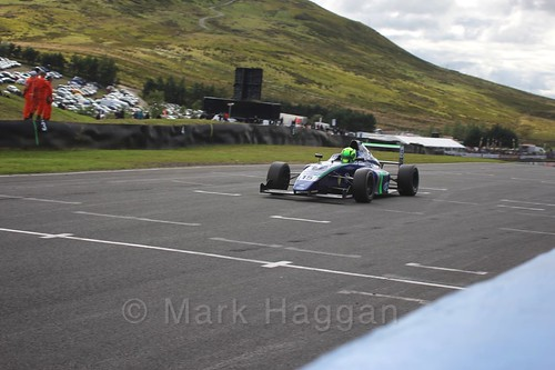 James Pull in the final British Formula Four race during the BTCC Knockhill Weekend 2016