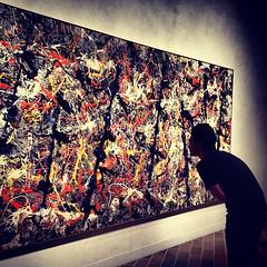 Pollock's Blue Poles, $20m+ painting. Stunning...