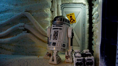 """Echo Base diorama - R2D2 outside room with warning sign on Echo Base • <a style=""""font-size:0.8em;"""" href=""""http://www.flickr.com/photos/86825788@N06/8362426064/"""" target=""""_blank"""">View on Flickr</a>"""