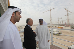 Yukiya Amano at Barakah NPP construction site ...