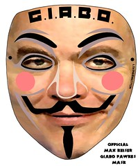 OFFICIAL DOWNLOADABLE MAX KEISER GIABO FAWKES MASK
