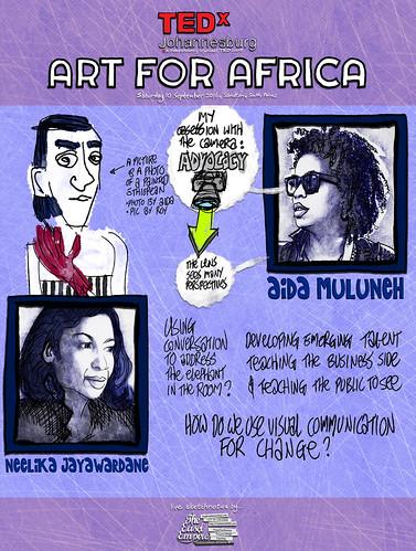 12 of 12 TEDxJohannesburg -- Aida Muluneh interviewed by Neelika Jayawardane