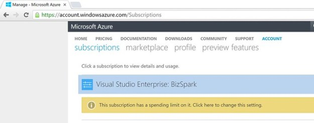 Azure Account Center