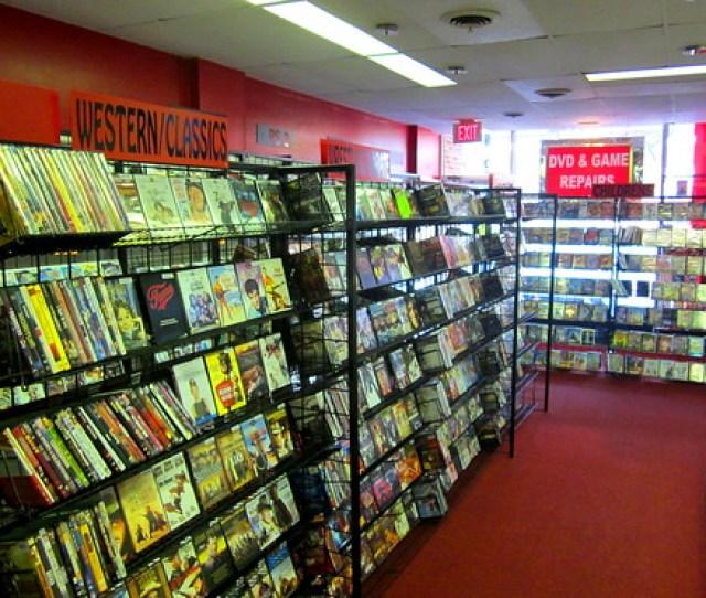 Usa Near Philadelphia Rare Peek Inside Retro Dvd Store Vintage Dvds And Games Aplenty A Photo On Flickriver
