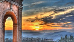 First Sunset of the Year in Bologna
