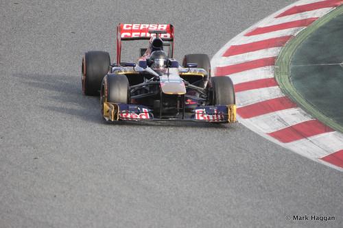 Daniel Ricciardo in his Toro Rosso at Formula One Winter Testing 2013