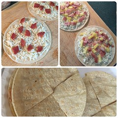 Pizzadilla pizzas - pepperoni and Hawaiian #gf #glutenfree