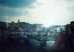1998 05 14 Florence Ponte Vecchio bridge view from the Uffizi