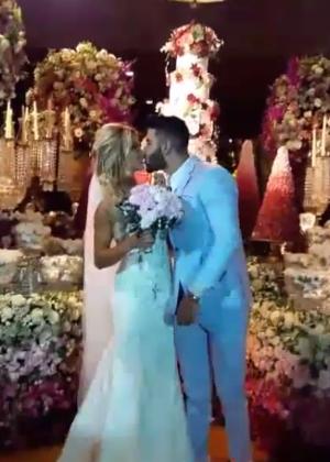 Gusttavo Lima e Andressa Suita se casam em cerimônia luxuosa