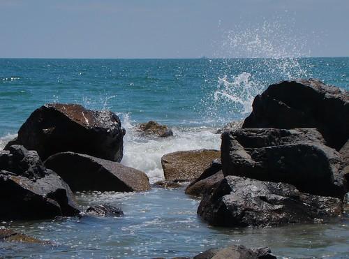 Splashing Waves at Coronado Beach