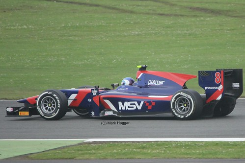 Jolyon Palmer in his iSport GP2 car at Silverstone