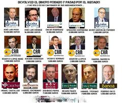 Directivos y consejeros de Bankia, CAM, Caix G...