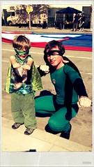Superheroes Alon and Papa