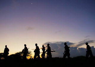 Troops Advance during Anti-Shabaab Operation i...