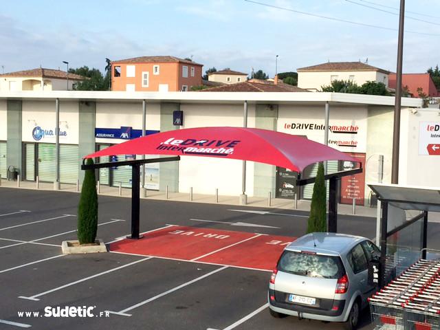 Sudetic-marquage-bache-Drive-Intermarché