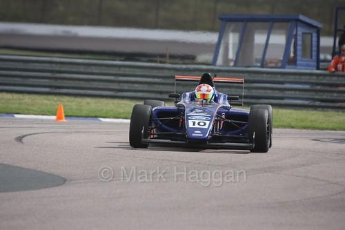 Petru Florescu in British F4 at Rockingham, August 2016