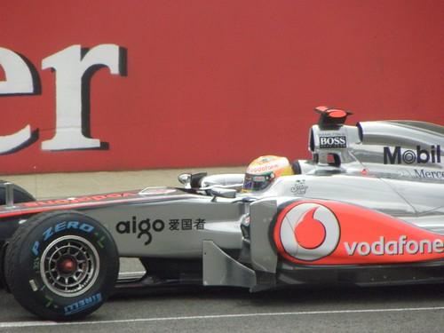 Lewis Hamilton in his McLaren at the 2011 British Grand Prix at Silverstone