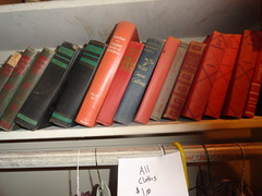 Old books at estate sale