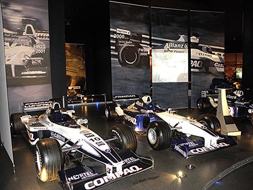Juan Pablo Montoya's 2001 FW23 and Jenson Button's 2000 FW22