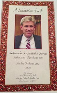 Program #memorial for Ambassador J Christopher...