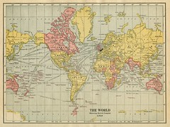 The World Showing British Empire in Red (1922)