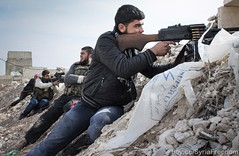 Free Syrian Army rebels fighting against Assad...
