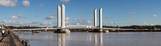 Le pont Bacalan Bastide à Bordeaux