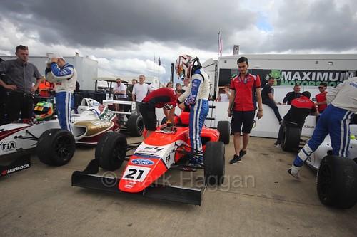 Rafael Martins in British Formula Four at Rockingham, August 2016