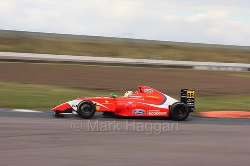 Jack Martin in British F4 at Rockingham, August 2016
