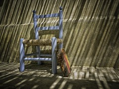 Still life of chair and book III