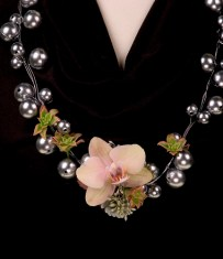 Flower Necklace -  - Leanne and David Kesler, Floral Design Institute, Inc., in Portland, Ore.