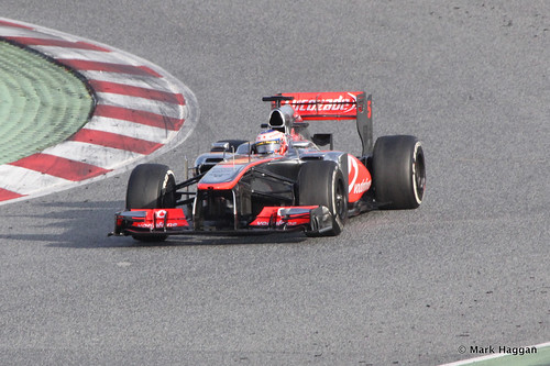 Jenson Button in his McLaren at Formula One Winter Testing, 3rd March 2013