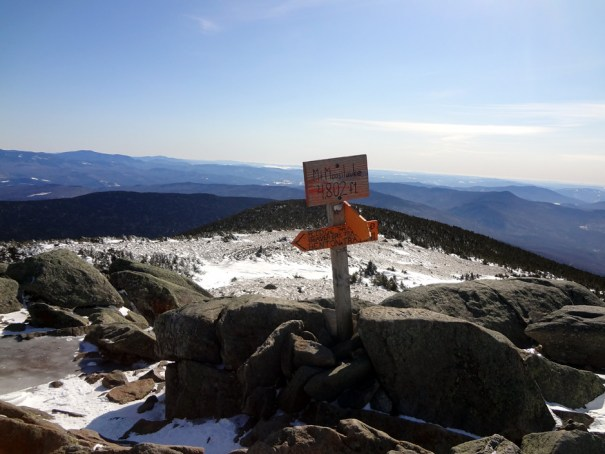 Mt. Moosilauke Summit on the Appalachian Trail in New Hampshire's White Mountains
