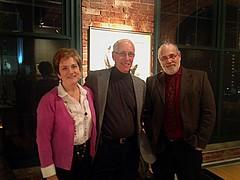 Caroline Reed, Dr. Daniel Lederer and Barnaby Evans