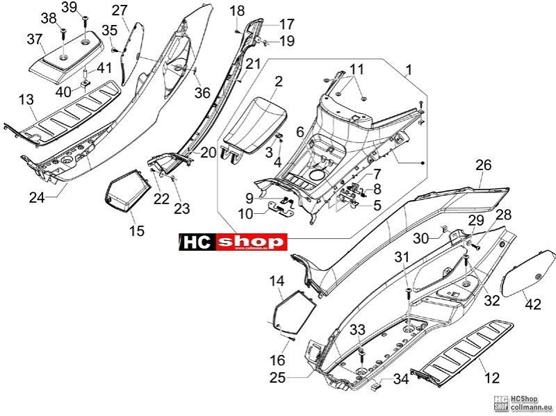 Piaggio Fly Ersatzteile Verkleidung