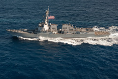 USS Stockdale underway in the South China Sea.