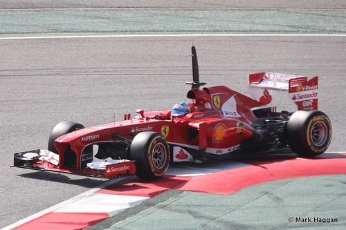 Fernando Alonso in his Ferrari in Formula One Winter Testing, March 2013