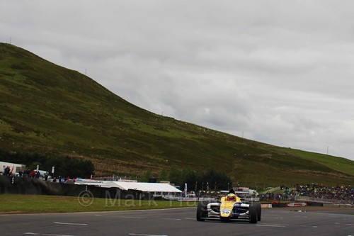 Alexandra Mohnhaupt in British Formula Four race 2 during the BTCC Knockhill Weekend 2016