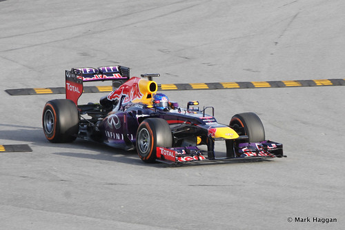Sebastian Vettel in his Red Bull at Formula One Winter Testing, 3rd March 2013