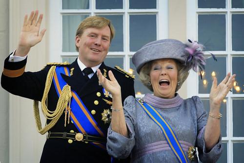 Willem Alexander and Beatrix