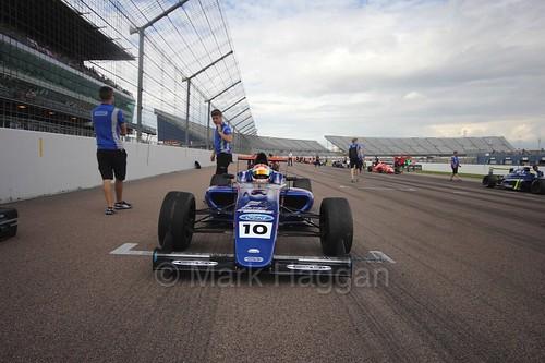 Petru Florescu on the British F4 grid at Rockingham, August 2016