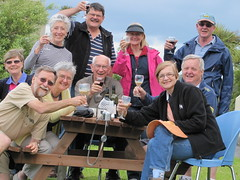 Travellers toast Claire