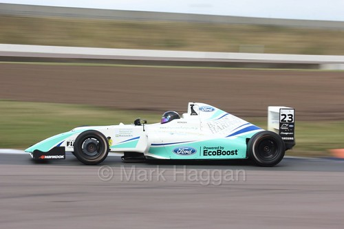 Billy Monger in British F4 at Rockingham, August 2016