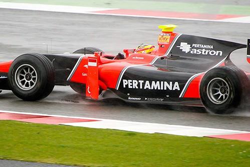 Rio Haryanto at Silverstone