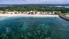 Views over the surf spot of Serangan.