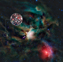 Sugar molecules in the gas surrounding a young...