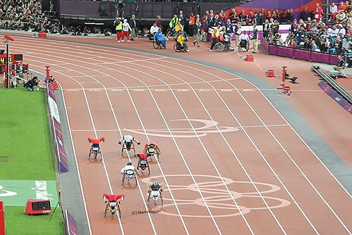 David Weir wins the men's T54 800m at the London 2012 Paralympic Games