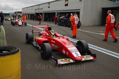 Frank Bird after British Formula Four race 2 during the BTCC Knockhill Weekend 2016