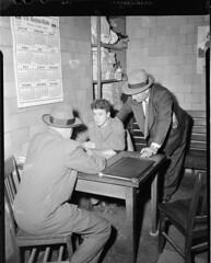 Detectives question a voting suspect